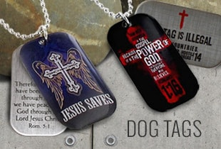 Shop Christian Dog Tags at ChristianApparelShop.com
