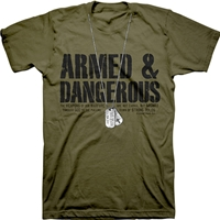 Armed And Dangerous Christian T Shirt