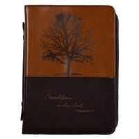 Stand Firm In The Lord Leather Bible Cover