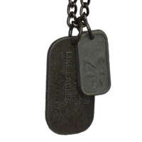 Soar On Wings Like Eagles Dog Tag