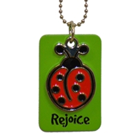 Rejoice Lady Bug Dog Tag