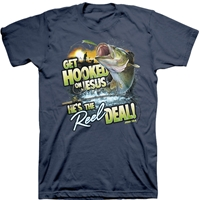 Get Hooked On Jesus He's The Reel Deal Christian T-Shirt