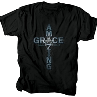 Amazing Grace Cross Nails Christian T-Shirt