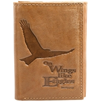 Soar On Wings Tan Genuine Leather Wallet