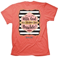 With God All Things Are Possible Christian T-Shirt