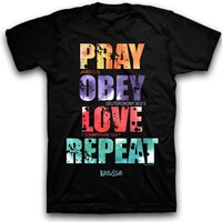 Pray, Obey, Love, Repeat Christian T-Shirt