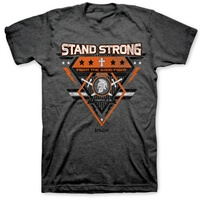 Stand Strong Fight The Good Fight Christian T-Shirt