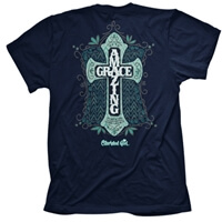 Amazing Grace Cross Christian T-Shirt