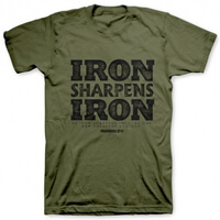 Iron Sharpens Iron Military Christian T Shirt
