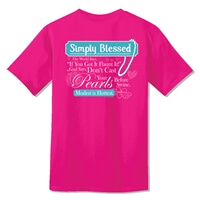 Simply Blessed Pearls Christian T Shirt