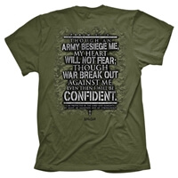 Military Cross Fear Not Christian T Shirt