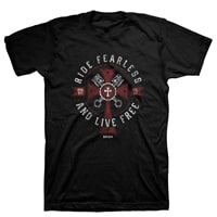 Ride Fearless And Live Free Christian T-Shirt