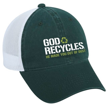 God Recycles Christian Hat