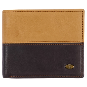 Two Tone Cross Genuine Leather Wallet