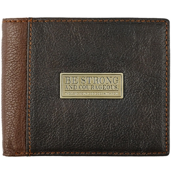 Be Strong & Courageous Leather Wallet