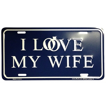 I Love My Wife Christian License Plate
