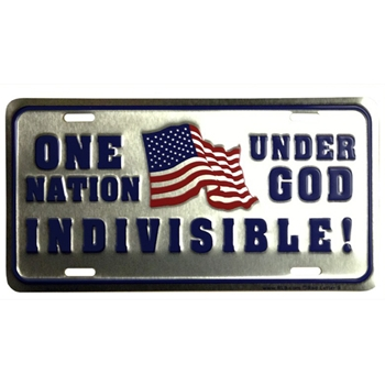 One Nation Under God Indivisible License Plate