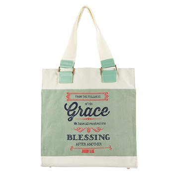 From The Fullness Of His Grace Tote Bag