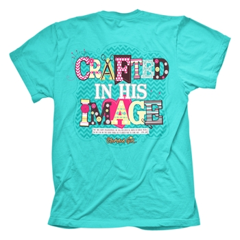 Crafted In His Image Christian T Shirt