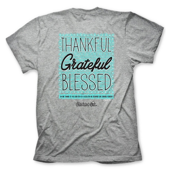 Thankful Grateful Blessed Christian T Shirt