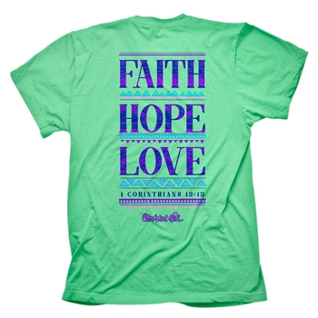Faith Hope Love Christian T Shirt