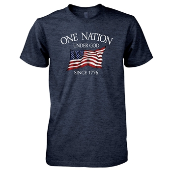 One Nation Under God Navy Christian T Shirt