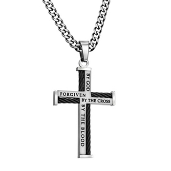 Forgiven By God By The Cross By The Blood Christian Necklace