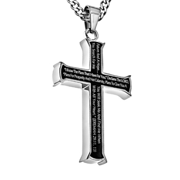I Know The Plans I Have For You Cross Necklace