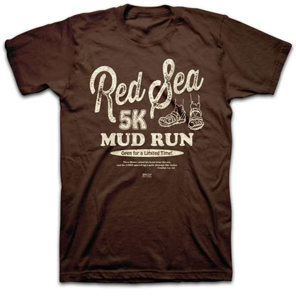 red sea 5k mud run christian t shirt exodus 14 21
