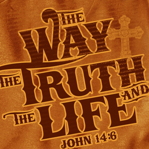 Christian Apparel Shop - Way Truth Life Christian T Shirt
